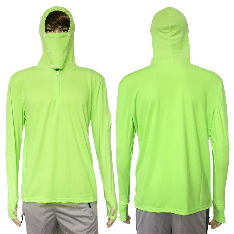 Vêtements de pêche chemise de Protection solaire Anti-UV respirant hommes séchage rapide à capuche chemise de pêche en plein air randonnée T-shirt crème solaire hauts