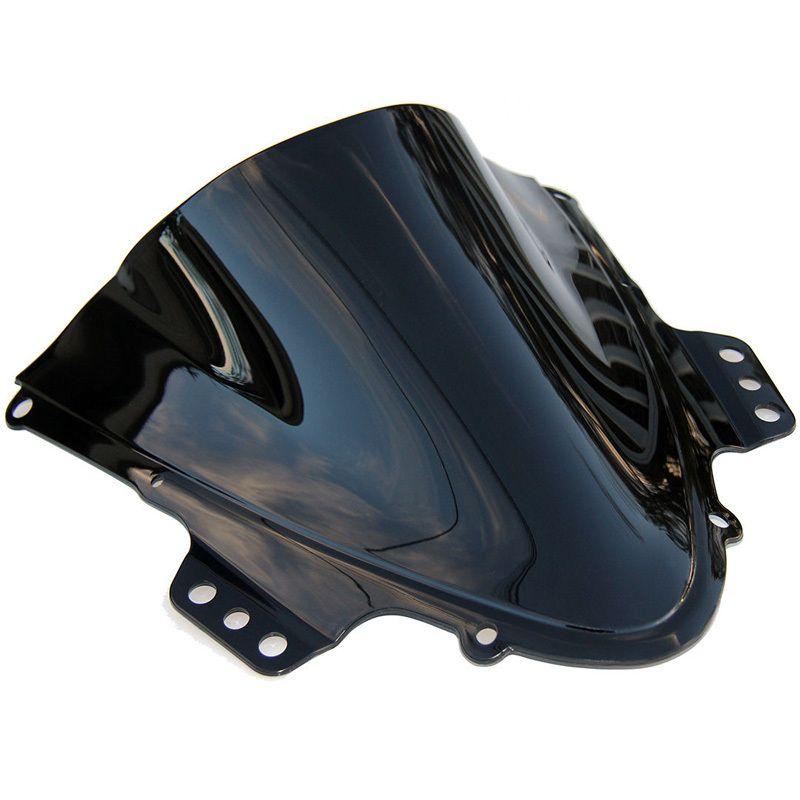 LOPOR GSXR1000 K5 K6 2005 2006 Windshield Motorcycle Windscreen for Suzuki GSXR 1000 K5 05 06 Dark Tinted Black Smoke
