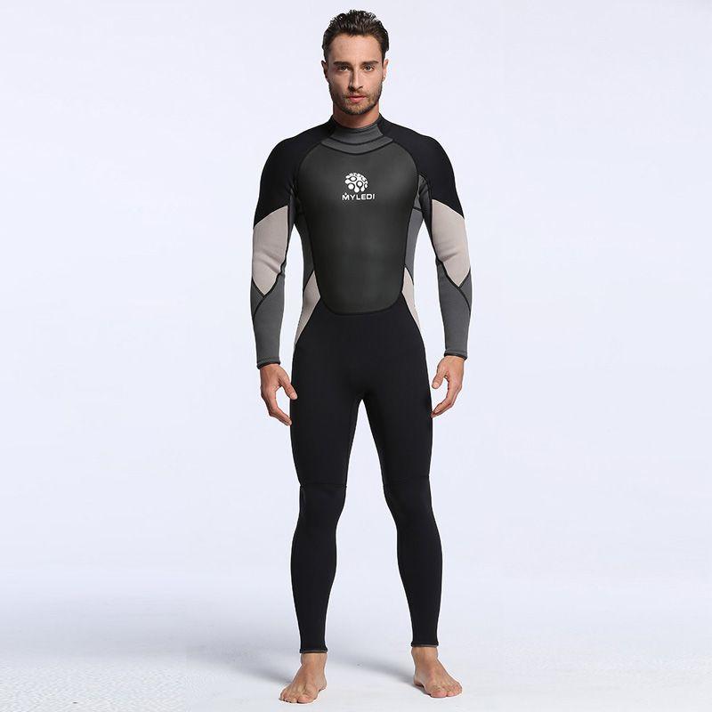 Men's Spearfishing Wetsuit 3MM Neoprene SCR Superelastic Diving Suit Waterproof Warm Professional Surfing Wetsuits Full Suit