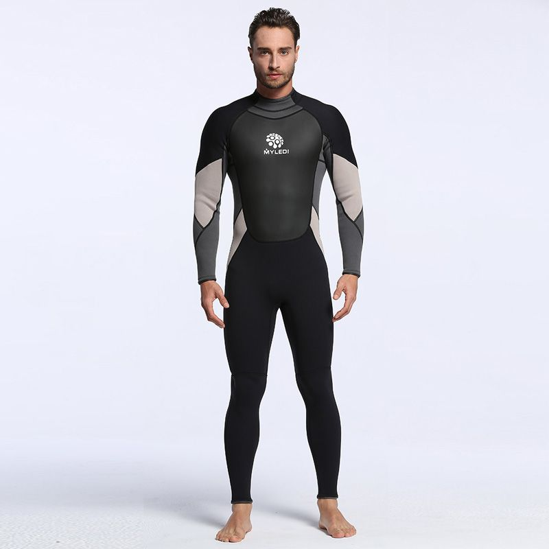 Men's Spearfishing Wetsuit 3MM Neoprene SCR Superelastic Diving Suit Waterproof Warm Professional Surfing Wetsuits Full Suit