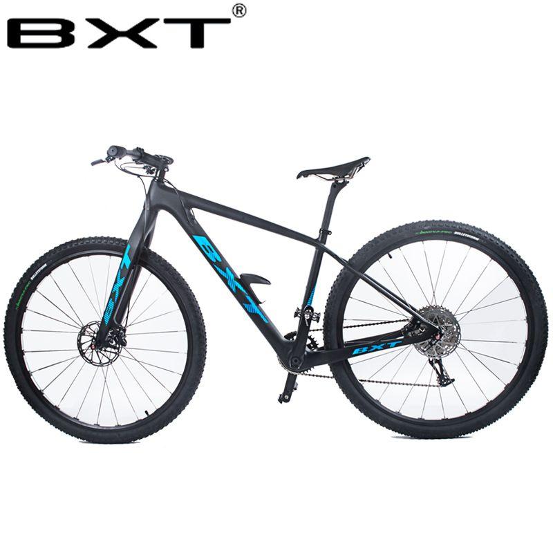 BXT 29 zoll carbon faser mountainbike 1*11 Gang-doppelscheibenbremse 29 MTB Männer fahrrad 29er rad S/M/L rahmen komplette bike