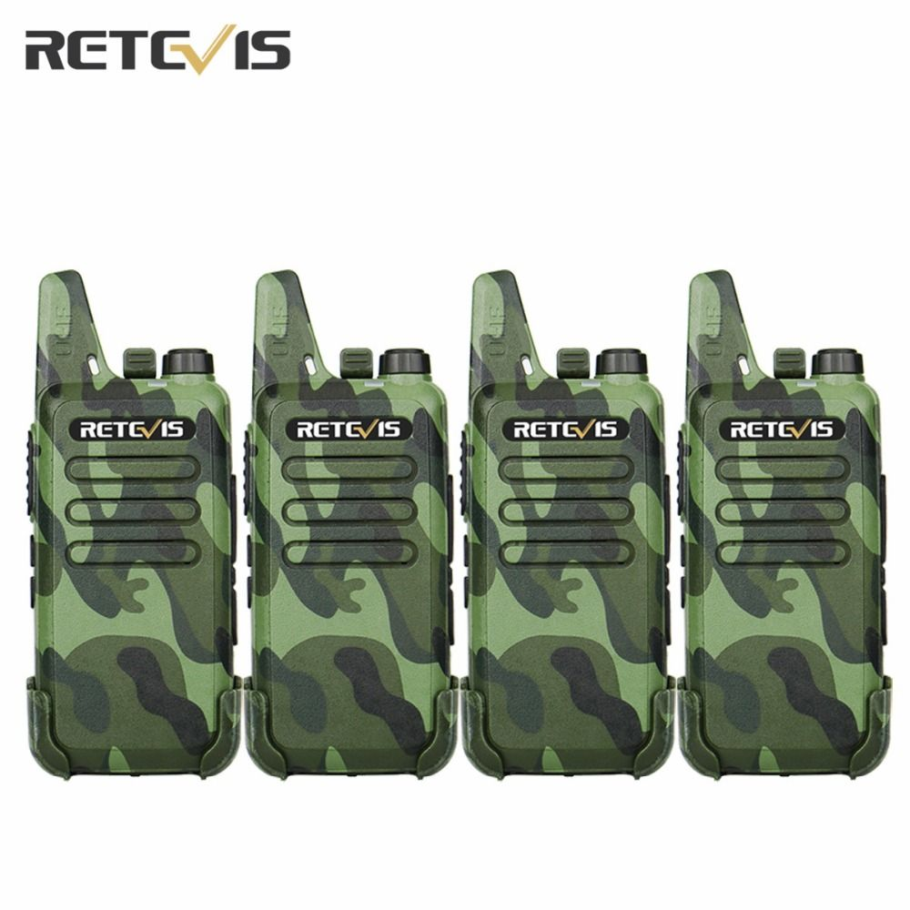 4pcs Dustproof Retevis RT22 Walkie Talkie Transceiver 2W 16CH UHF400-480MHz CTCSS/DCS VOX Scan Squelch Portable Amateur Radio RU