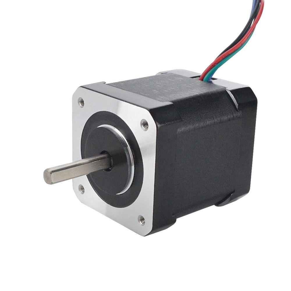 0.9deg Nema 17 Stepper Motor 2A 42x48mm 46Ncm Full D-cut Shaft 4-lead Nema17 Stepper for DIY 3D Printer CNC Robot