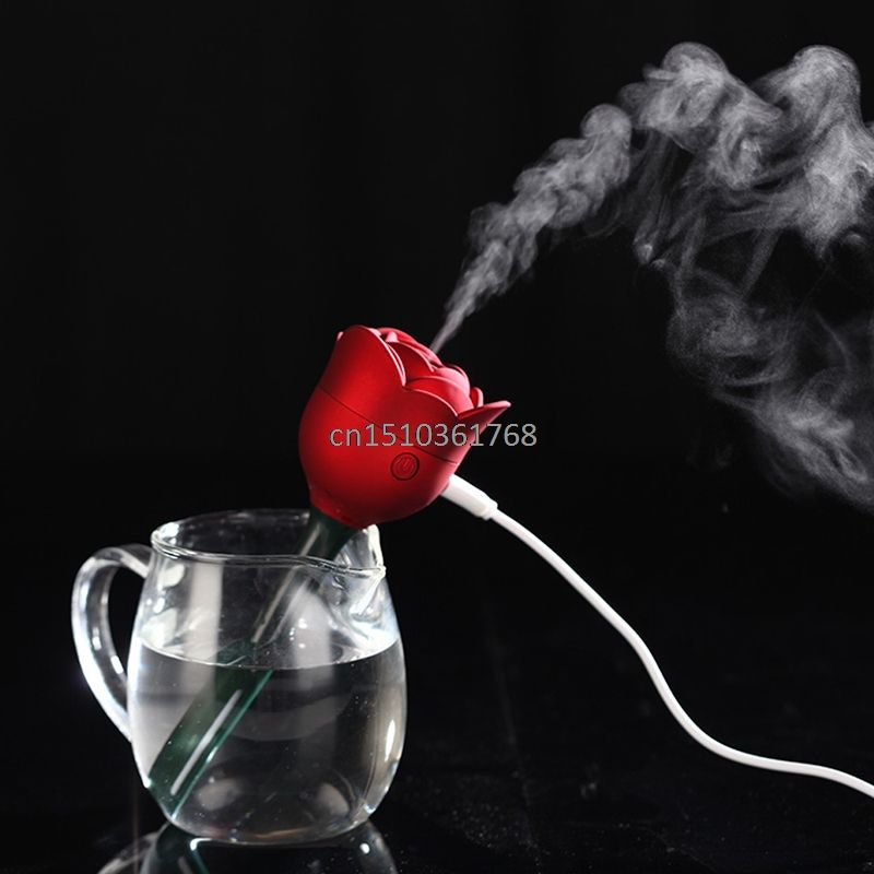 Mini Rose Fleur USB Humidificateur Purificateur D'air Aroma Diffuseur Atomiseur Bureau Maison # Y05 # # C05 #