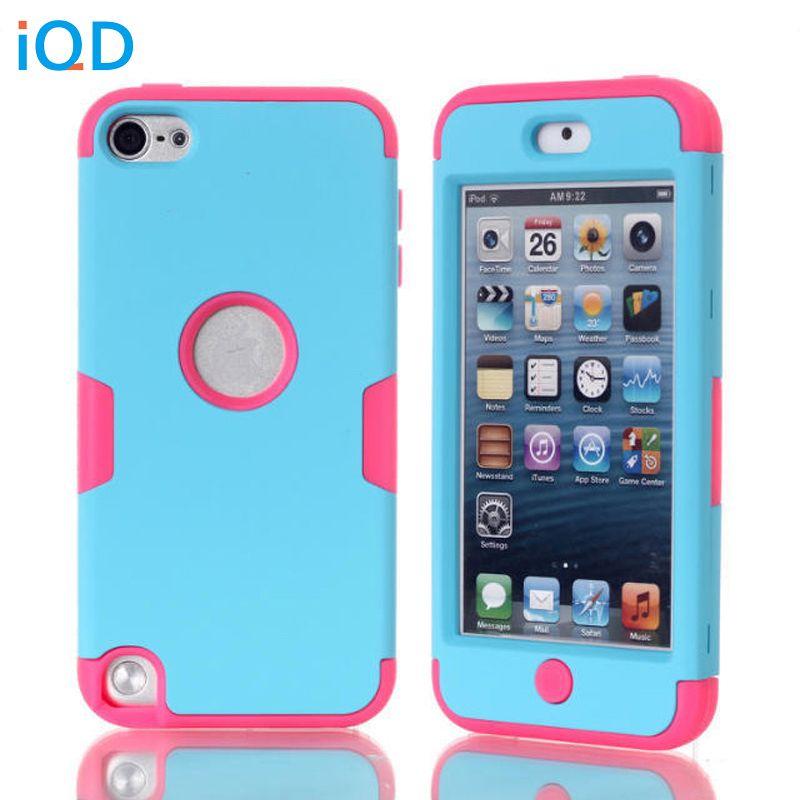 IQD Pour Apple ipod touch 5 6 Équipée Cas protecteur Dur doux Hybride Armure Defender silicone gel Cas pour iPod Touch 6 couverture