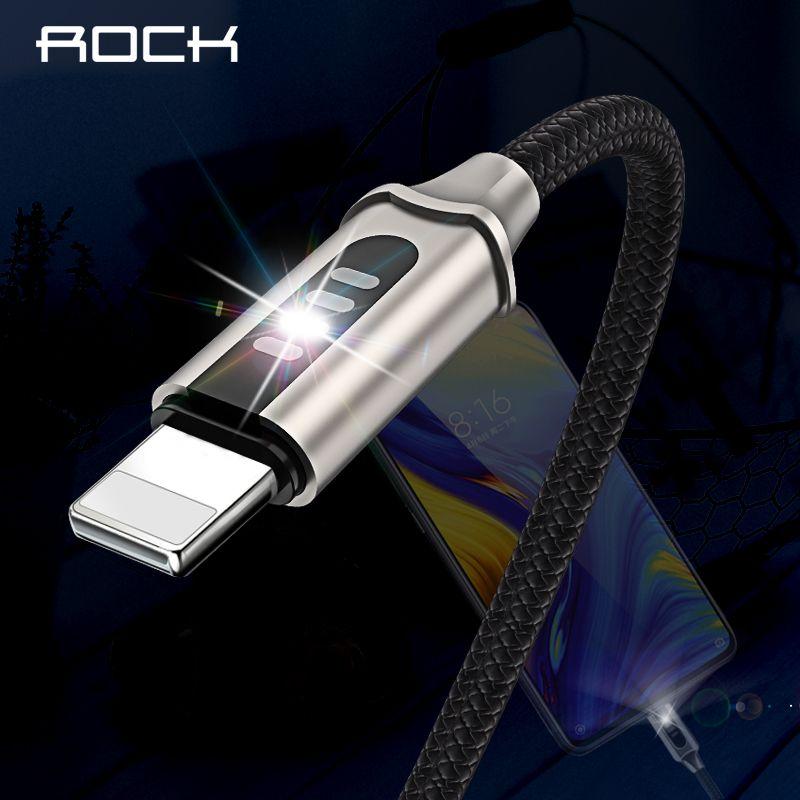 Rock Auto Trennen Led USB Kabel Für iPhone X XS Max 7 8 6 iPad Schnelle Lade Daten Sync Kabel ladegerät Leucht Flash Licht