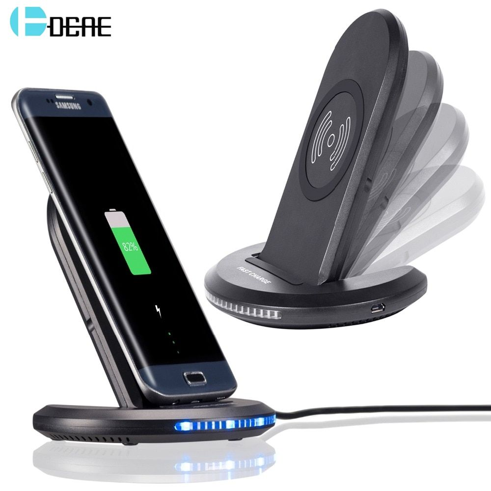 DCAE QI Standard Wireless Charger For iPhone 8 iPhone X Samsung S8 S7 Edge S6 Edge Note 8 Holder 5V 1A Output Wireless Charger