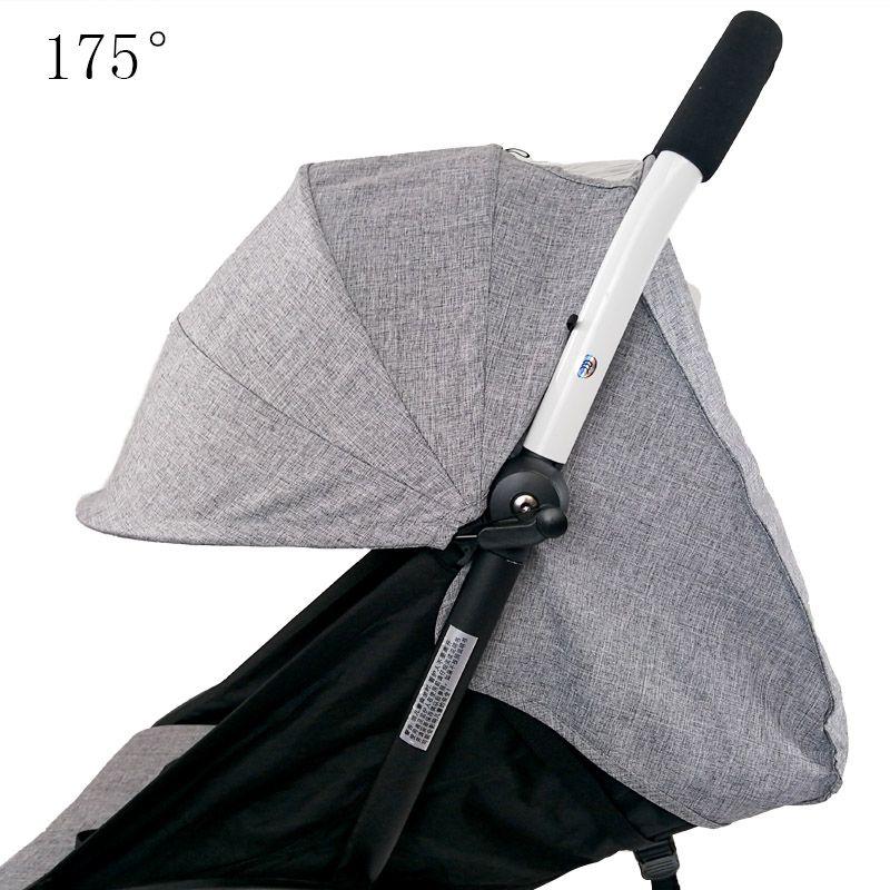 Housse de soleil de poussette et coussin Oxford tissu poche arrière à glissière bébé poussette accessoires pour Yoya bébé trône Babytime poussette