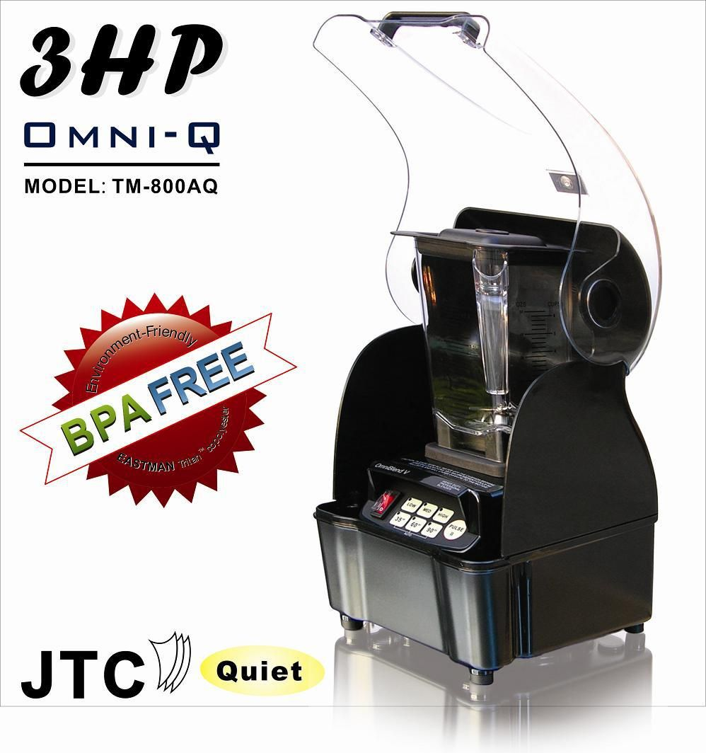 BPA Free Commercial Blender + Best Sound enclosure box, Model:TM-800AQT, Black, FREE SHIPPING, 100% positive feedback!
