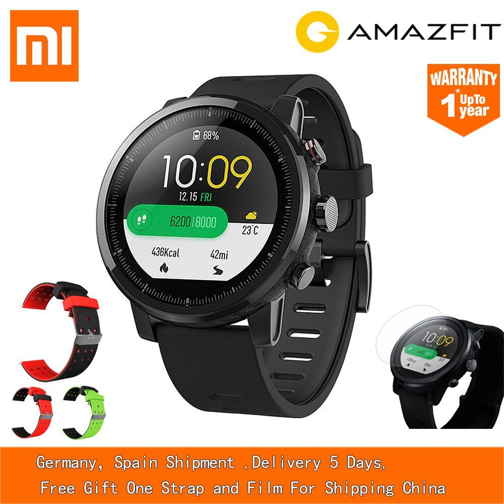 [STOCK] Xiaomi Huami AMAZFIT Stratos GPS 5ATM Waterproof Smart Sports Watch 2 International 512MB/4GB Smartwatch for Android iOS