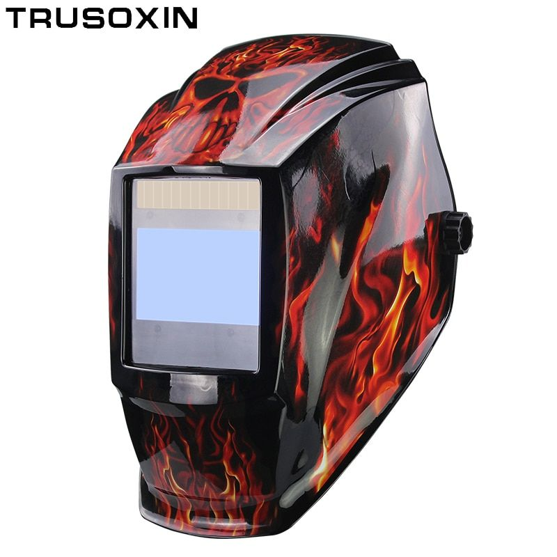 Rechangeable Batterie 4 Capteur Arc Grand View Solaire Auto Assombrissement/Ombrage Broyage/Polonais De Soudage Casque/Soudeur Lunettes /masque/Cap