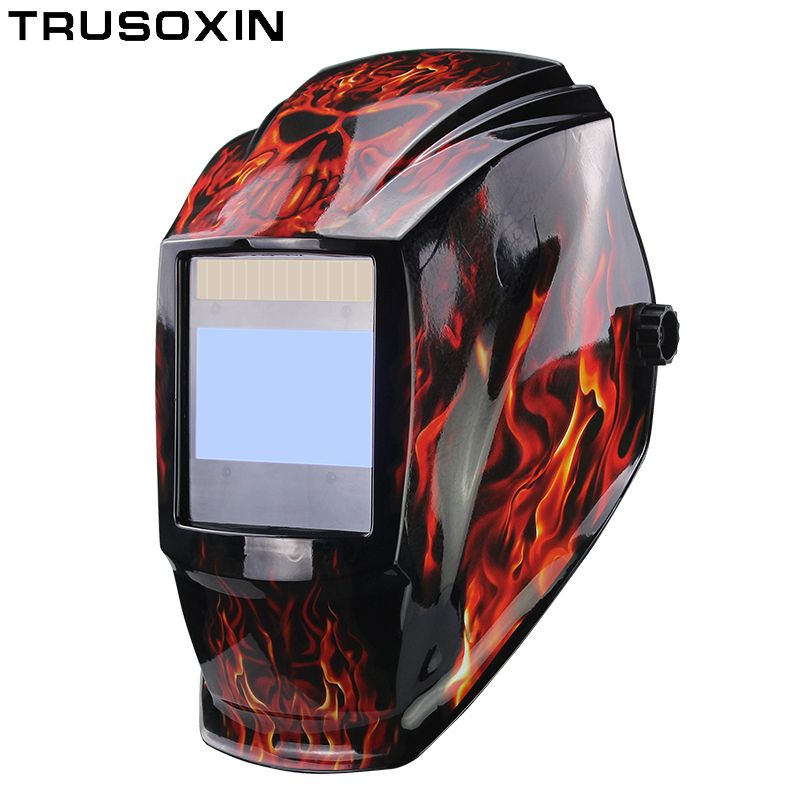 Rechangeable Battery 4 Arc Sensor Big View Solar Auto Darkening/Shading Grinding/Polish Welding Helmet/Welder Goggles/Mask/Cap