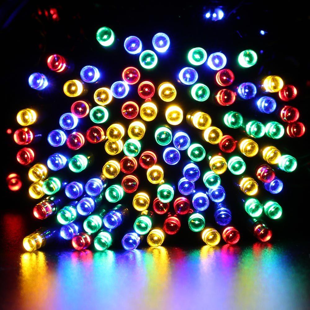 22M 200 LED Solar String Fairy Lights Premium Quality Waterproof LederTek Solar Power 8 Modes Solar Lights For Garden Decoration