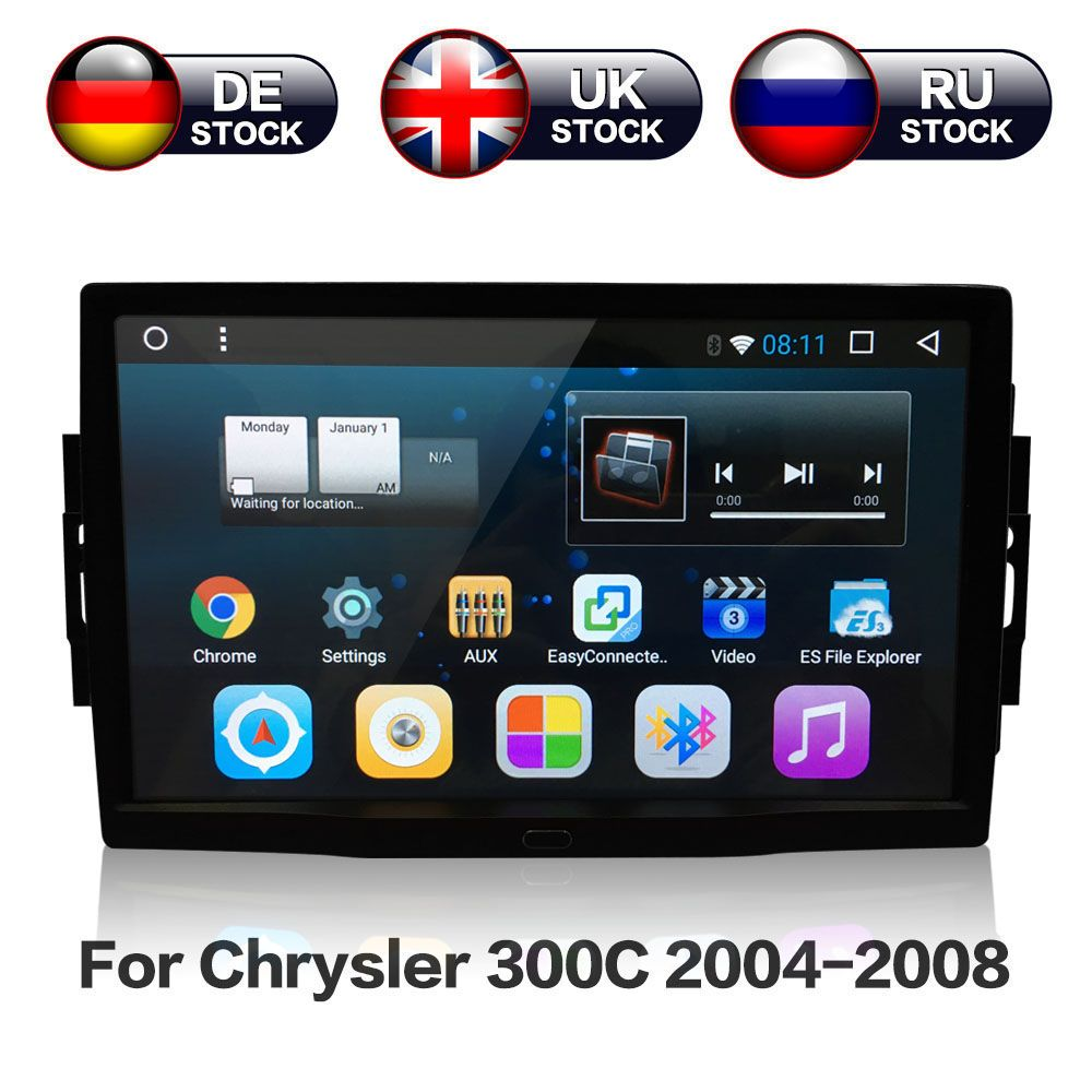 9'' Android 7.1 8 core Car Stereo GPS Navigation Radio For Jeep Grand Cherokee Patriot Dodge Charger Chrysler 300C DVD Player