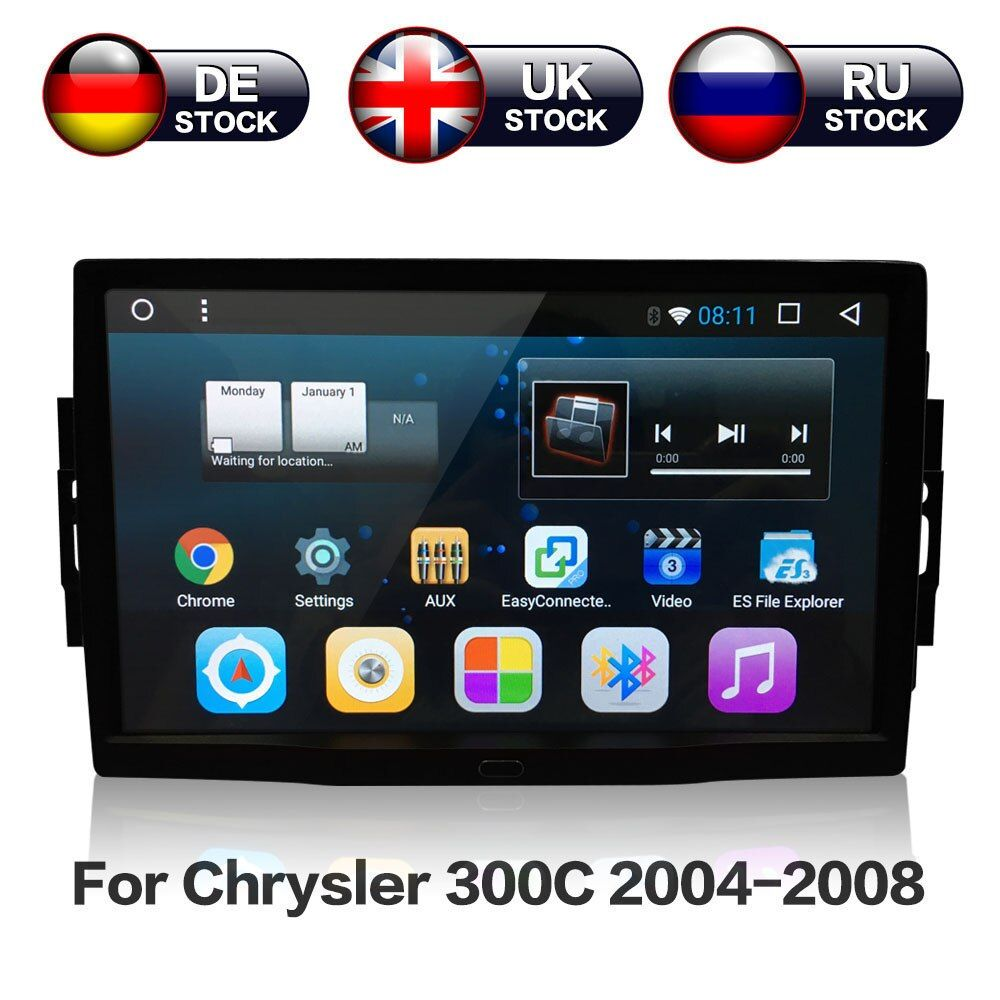 9'' Android 7.1 RAM 2GB Car Stereo GPS Navigation Radio For Jeep Grand Cherokee Patriot Dodge Charger Chrysler 300C DVD Player