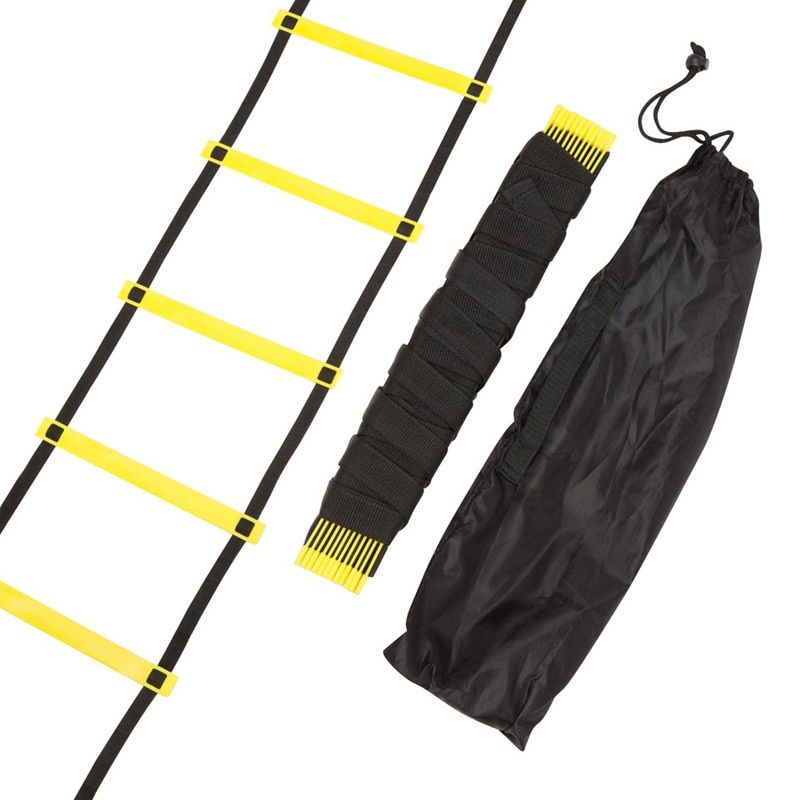 Durable 9 rung 16.5 Feet 5M Agility Ladder for Soccer and Football <font><b>Speed</b></font> Training With Carry Bag Fitness Equipment ladders