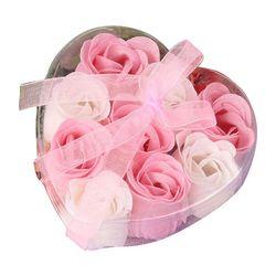 9 Pcs Parfumée Fleur de Rose Pétale Corps Bain Savon De Mariage Parti Cadeau