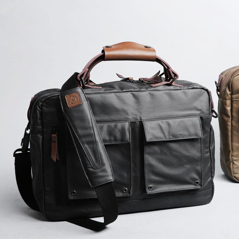 D-park 14/15 inch Portable KUMON Laptop Briefcase Handbags Rubberized canvas Crossbody Bags Messenger Bags for MacBook Cases