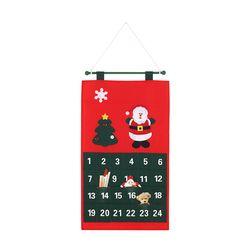 Natal Santa Kalender Munculnya X'mas Natal Munculnya Kalender Kain Countdown Dinding Menggantung Kalender Natal Dekorasi