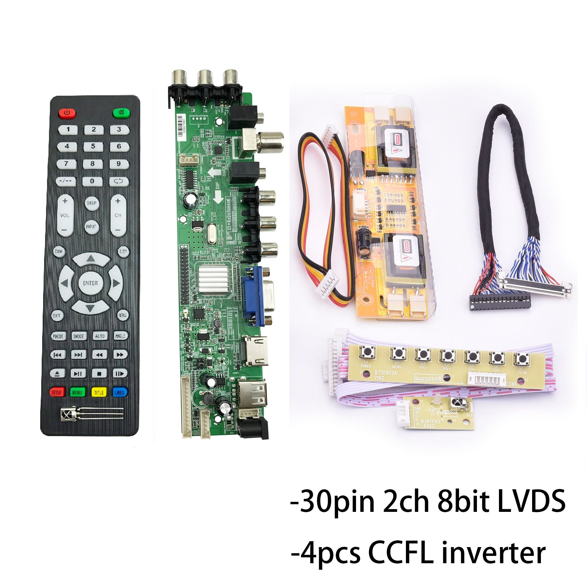 D3663lua a81 dvb t2 DVB-C DVB-T/T2 Universal LCD LED TV Controller Driver Board full kit for 17