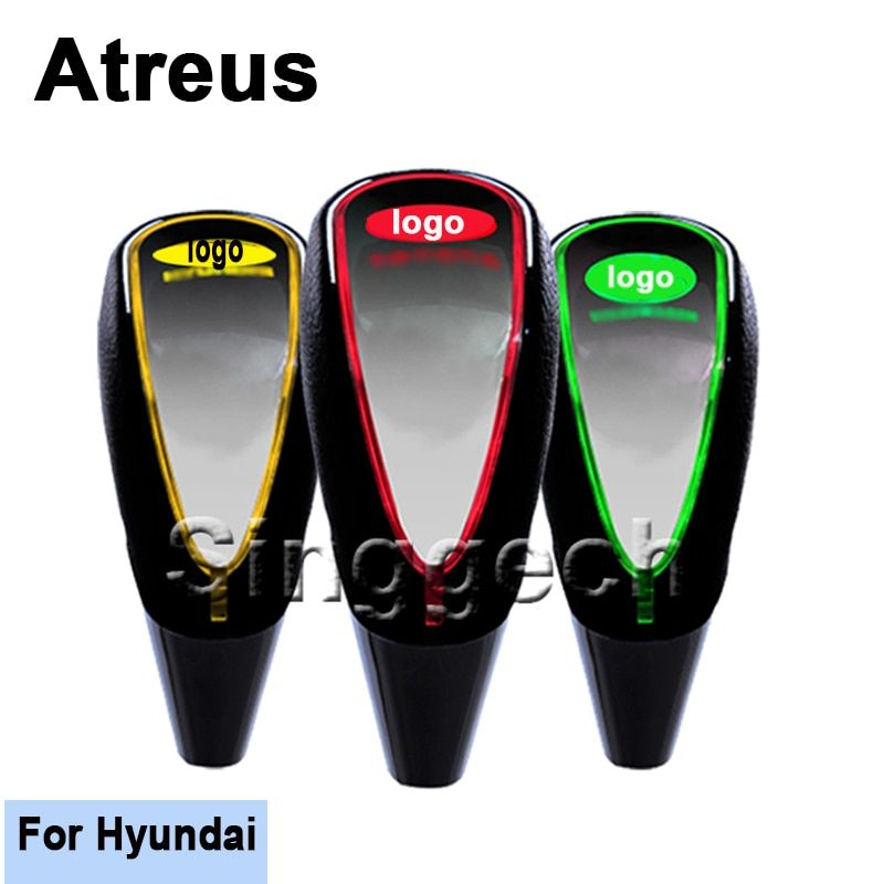 Atreus Car Gear Shift Knob Touch Sensor LED Light Colourful 5/6 speed For Hyundai Solaris Tucson 2016 I30 IX35 I20 Accent Santa
