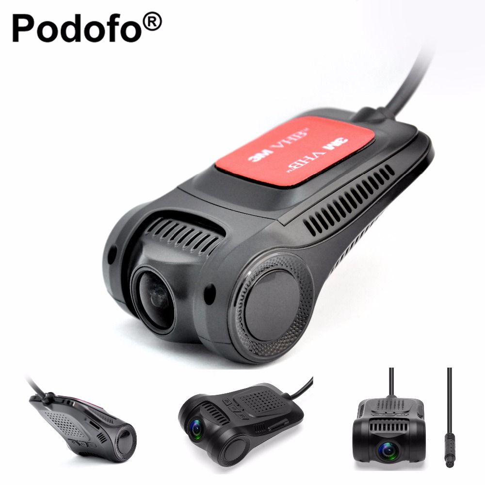 Podofo Car DVR Camera Novatek 96655 WiFi Dashcam Full HD 1080P Video Registrator Recorder G-sensor Night Vision Dash Cam DVRs