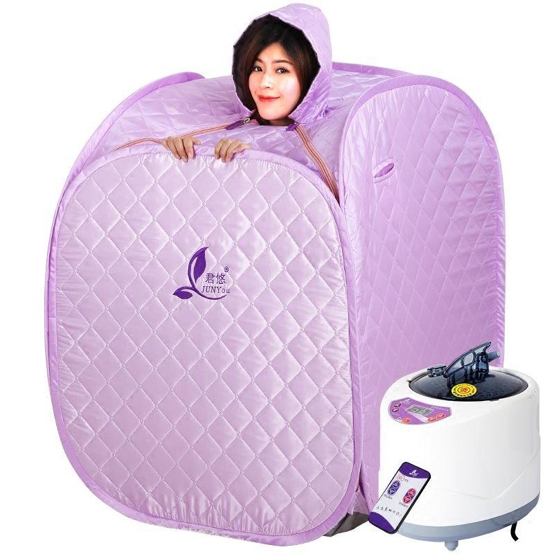 1000W 2.5L Sweat Steamer Folding Sauna Box 80*80*100cm Sweating Fumigation Steam Room Inflatable Bathtub Free Eco-Friendly