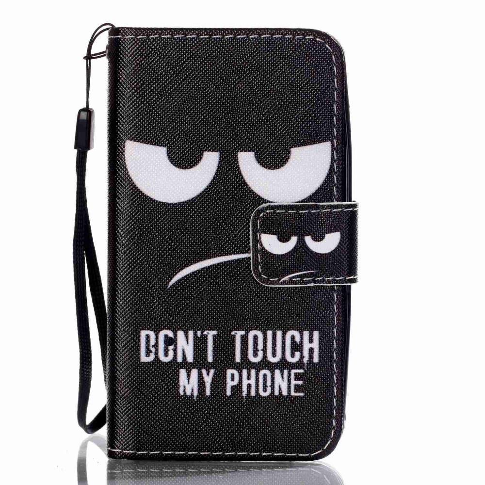 BYHeYang For Lenovo A319 Phone Cases Black Eye Book Style Wallet PU Leather Case For Lenovo A 319 Skin Cover With Card Holder
