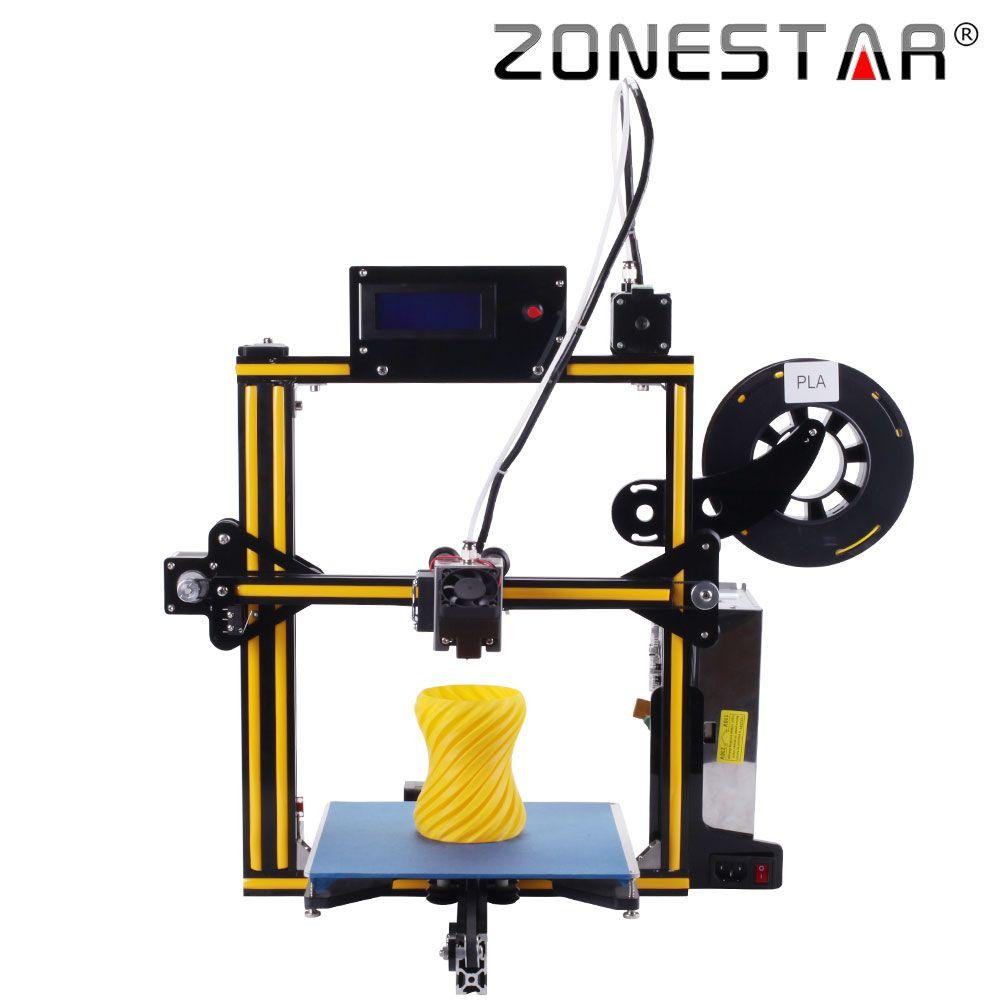 2018 Newest ZONESTAR Full Metal Aluminum Frame Optional Auto Leveling Laser Engraving Filament Run out Detect 3d printer DIY kit