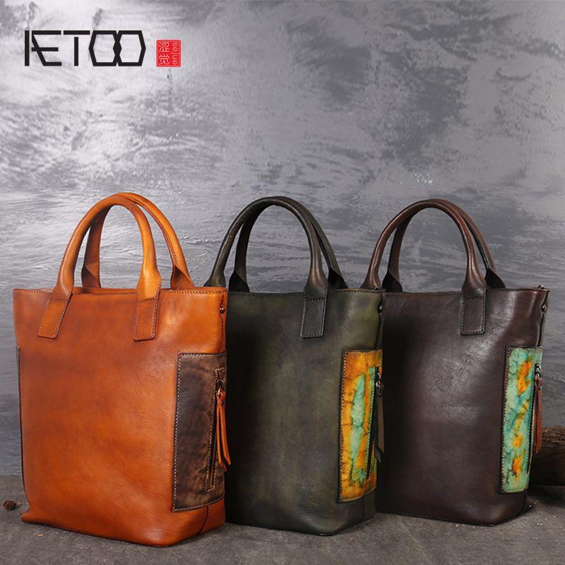 AETOO Großen neuen art und weise große umhängetasche multifunktions frauen Messenger handtaschen aus leder