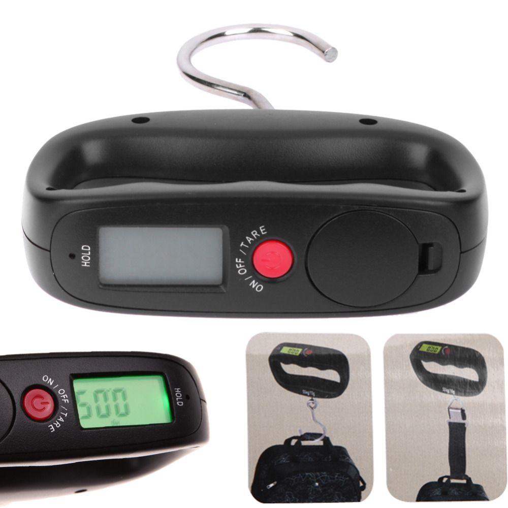 Balance de poche Portable 50 kg/10g LCD numérique électronique à main crochet ceinture suspendue Balance rétro-éclairage Balance pesant outil de pêche
