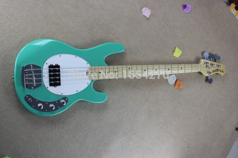 Free Shipping !! Hot Sale High Quality Ernie Ball Musicman Music Man Sting Ray 4 Strings Green Electric Bass Guitar 150708