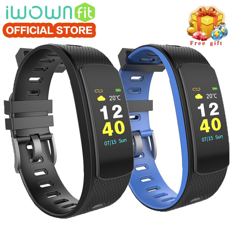 IWOWNfit I6 HR C Fitness Bracelet Color Screen Smart Bracelet Band with Heart Rate Monitor Wristband with Fitness Tracker Sport