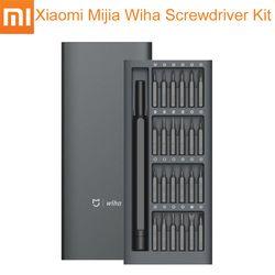 Original Xiaomi Mijia Wiha Screwdriver Kit 24 in 1 Magnetic Repair Tools For Daily Use Precision Magnetic Bits Screw Driver Set