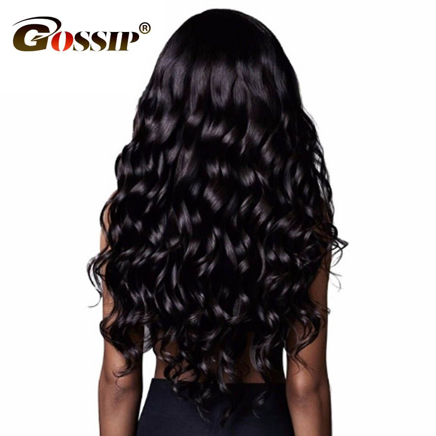 Gossip 360 Lace Frontal Wig Pre Plucked With Baby Hair Brazilian Body Wave Human Hair Wigs for Black Women Remy Lace Front wigs