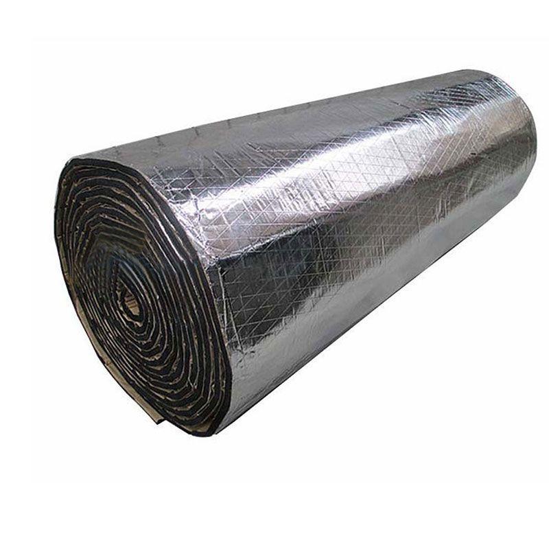 2 Roll 100X50cm Car Noise Sound Proofing Deadening Insulation Heat 10mm Foam Glass Fibre Auto Interior Accessories