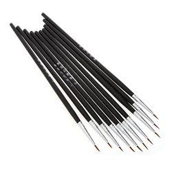 10 Pcs/Set Fine Hand Painted Thin Hook Line Pen Art Supplies Drawing Art Pen Paint Brush Nylon Brush Acrylic Painting Pen