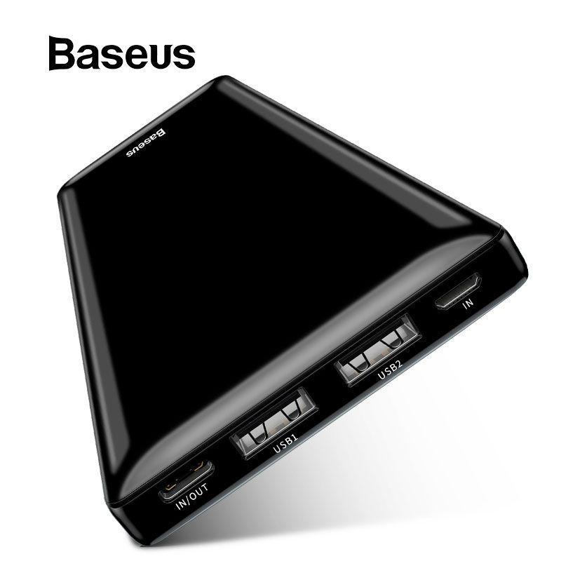 Baseus 20000mAh batterie externe Portable téléphone batterie banque d'alimentation de chargeur batterie externe batterie de poche pour iPhone Xiaomi Huawei Samsung