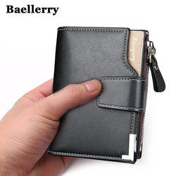 Baellerry marca hombres Cartera de cuero carteras monedero carpeta masculina corta del cuero del embrague Garantía de Calidad del bolso del dinero de los hombres