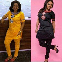 H & D 2019 Wanita Afrika Afrika Pakaian Musim Panas Pendek Lengan Dashiki Set Desain Bordir Putih Hitam Wanita Blus dengan Celana