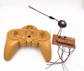 2.4G 30 meter 12CH remote control and receiver board 4-8v for excavator  tank kit with speaker