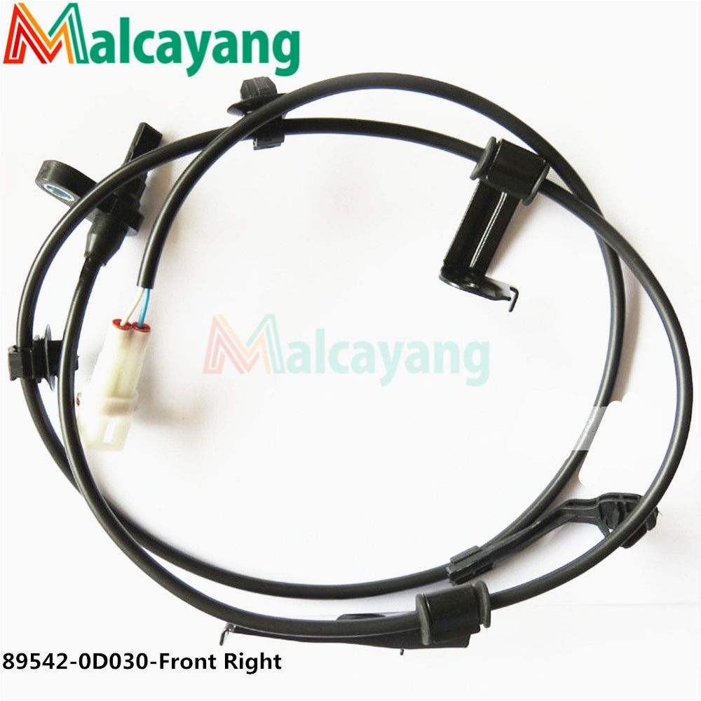 New 1Pc Front Right ABS Wheel Speed Sensor 89542-0D030 895420D030 For Toyota Yaris Vios 2008-2012 2009 2010 2011 89542 0D030
