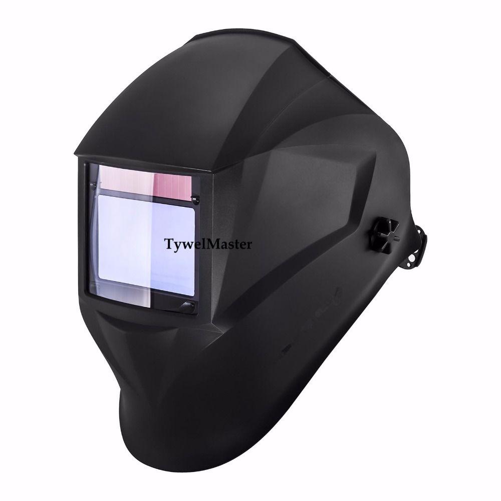 Welding Mask Helmet 100*65mm 1111 4 Sensors Solar Auto Darkening Welding Helmet Welder Hat 3/4-13 MMA MIG TIG(low amp) Welding