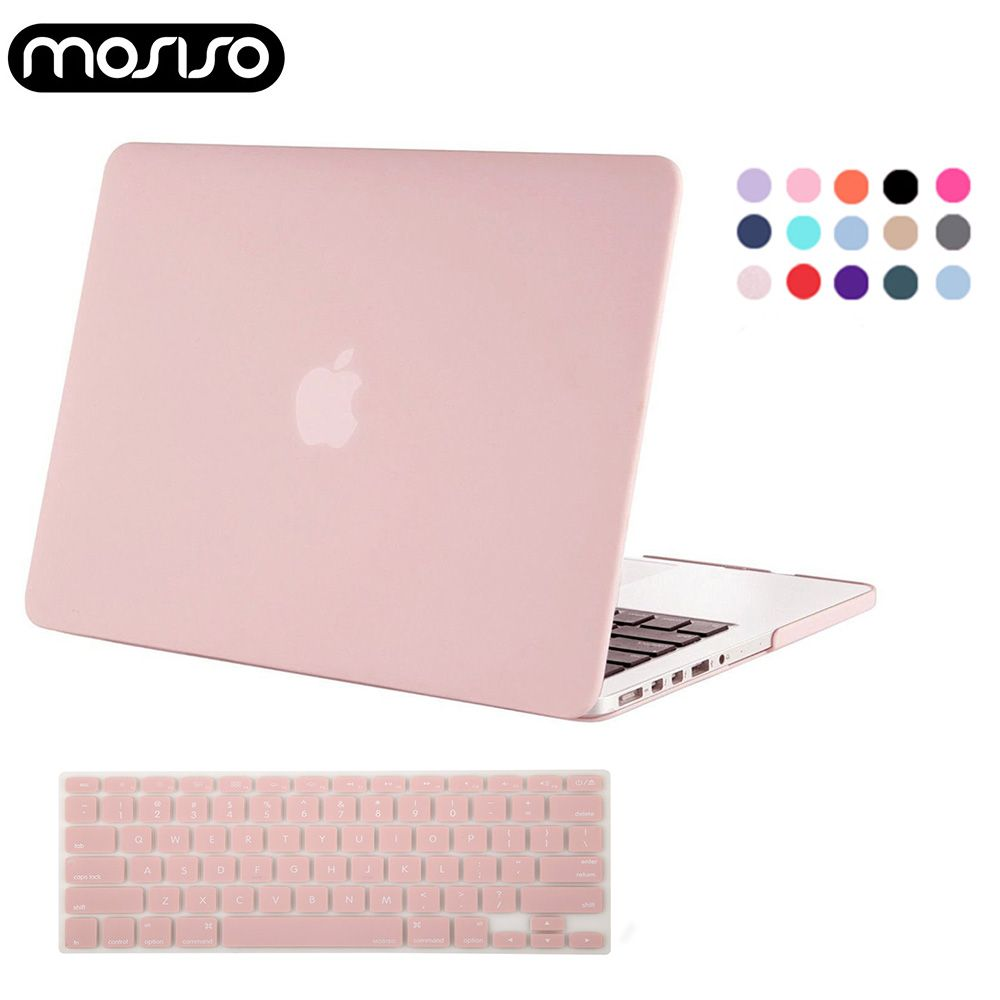 MOSISO ordinateur portable Mac 13 pouces housse en plastique transparent mat étui pour macbook Air Pro 13 15 Retina 2015 2014 2013 + Silicone KB couverture