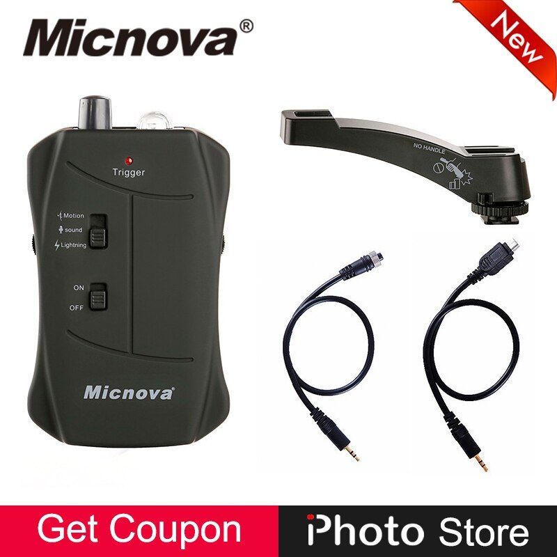 Micnova MQ-VTC 3 in 1 Mode Lightning Motion Sound Trigger Solution IR Remote Control Shutter Release for Canon Digital Camera