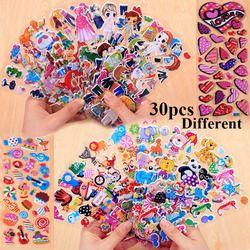 30 Lembar Yang Berbeda Lucu Hewan Peliharaan DIY Stiker Kartun Stiker Mainan Hewan Gadis Bunga Emoji PVC Scrapbook Hadiah untuk anak-anak