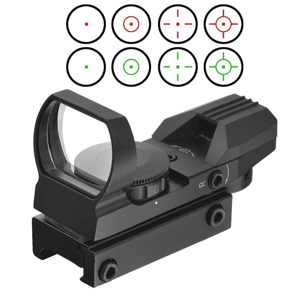 beileshi Holographic 4 Reticle Red/Green Dot Tactical Sight Scope with Mount for hunting Free Shipping