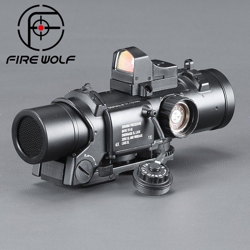 FIRE WOLF Riflescope Scope Telescope Riflescope Optical Instrument Airsoft Acog High End Binoculars Red Dot