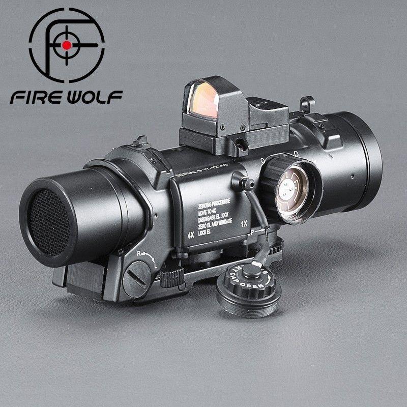 FIRE WOLF Riflescope Scope Telescope Riflescope Optical Instrument Airsoft Acog High End Binoculars Red Dot