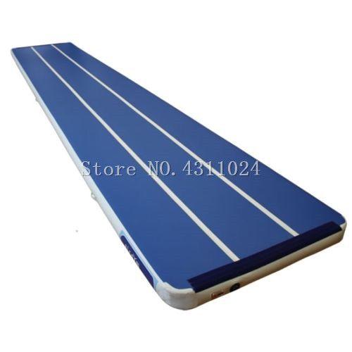 Freies Verschiffen 10x2x0,2 mt Blau Aufblasbare Gymnastik Matratze Gym Wäschetrockner Airtrack Boden Taumeln Air Track Für verkauf